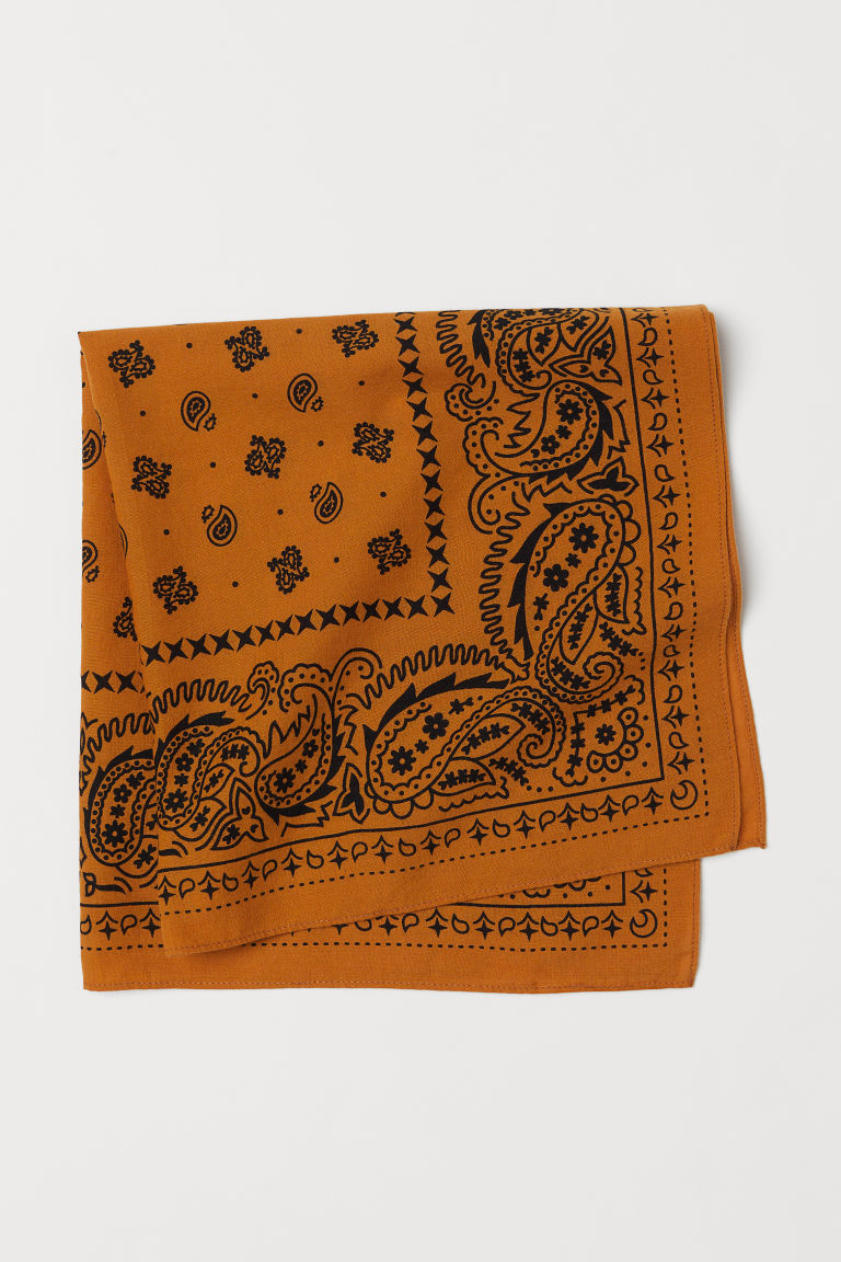Patterned scarf - Ochre/Patterned - Men | H&M