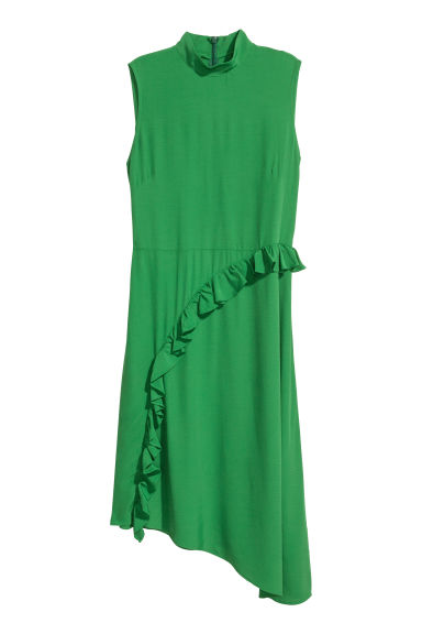 Crêpe dress - Green -  | H&M CN