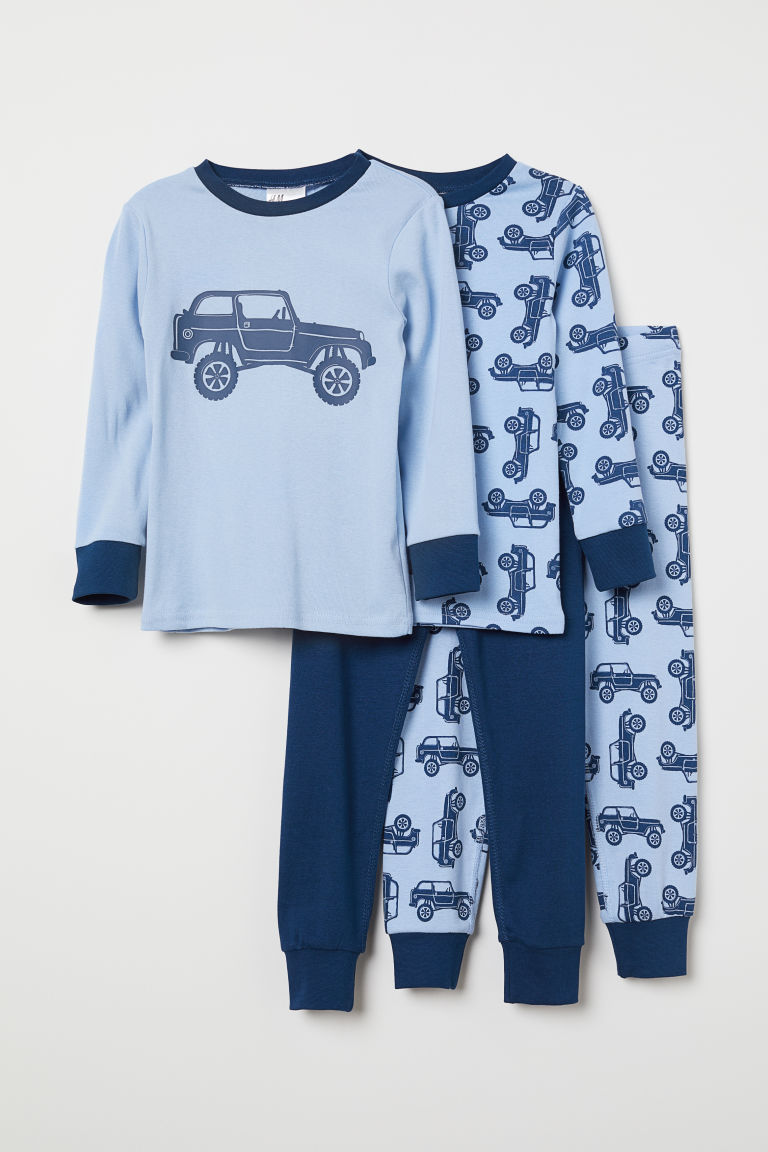 2-pack pyjamas - Light blue/Cars - Kids | H&M CN