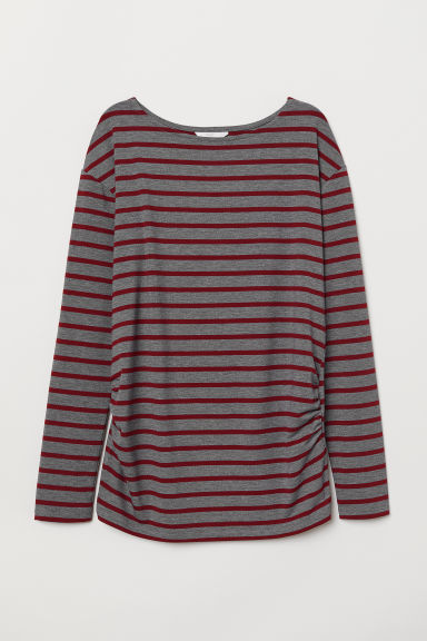 MAMA Jersey top - Grey marl/Striped - Ladies | H&M