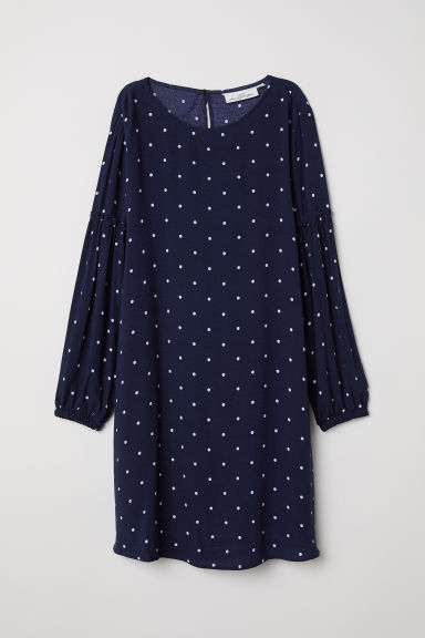 Dress - Dark blue/Spotted - Ladies | H&M