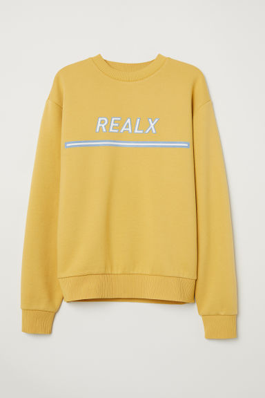 Oversized sweatshirt - Yellow - Men | H&M