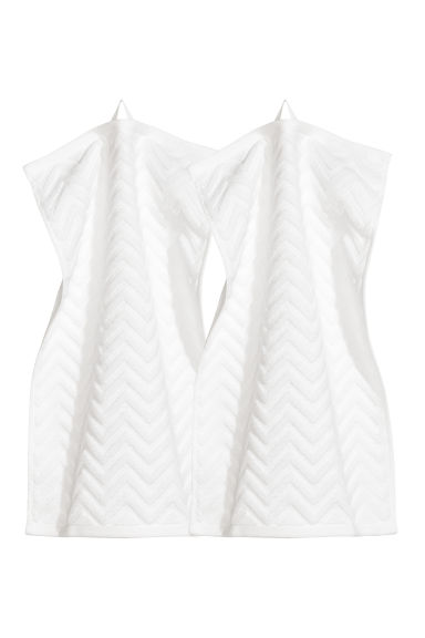 2-pack gästhanddukar - Vit - Home All | H&M SE