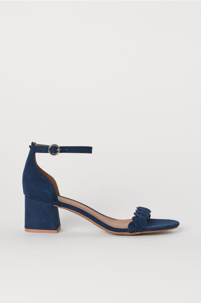 7f7c700b9f09c Sandals - Dark blue - Ladies   H&M ...