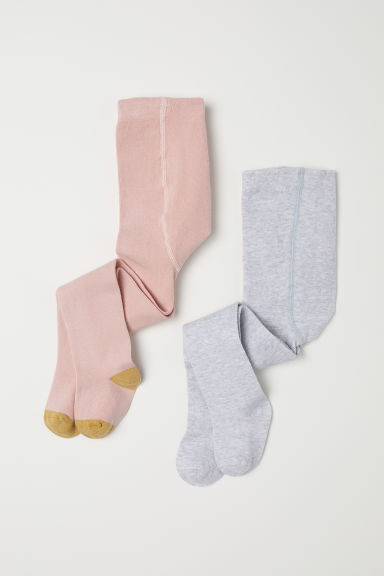 2-pack tights - Powder pink -  | H&M CN