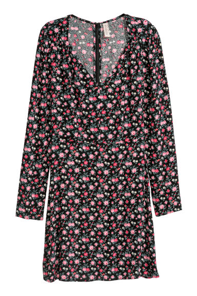 Patterned dress - Black/Floral -  | H&M GB