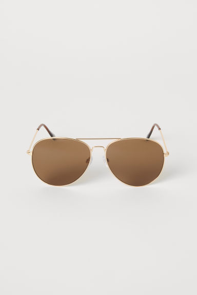 Sunglasses - Gold-coloured/Brown - Men | H&M