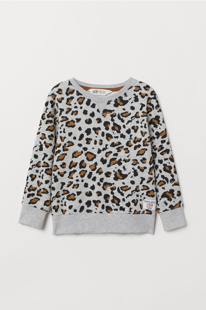 d6ee7ee518 Sweatshirt - Grau/Leopardenmuster - Kids   H&M ...