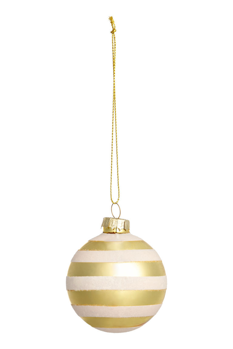2-pack Christmas Ornaments - White/gold-colored - Home All | H&M US