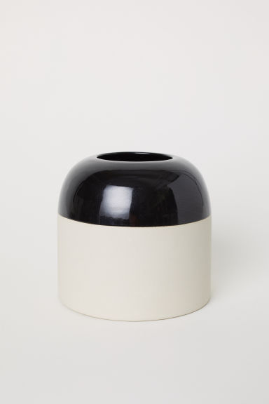 Stoneware vase - Black - Home All | H&M CN
