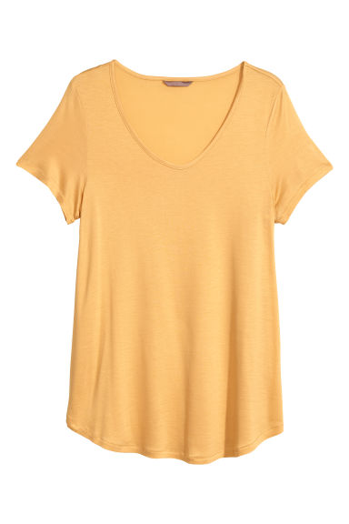 H&M+ Jersey top - Mustard yellow - Ladies | H&M GB