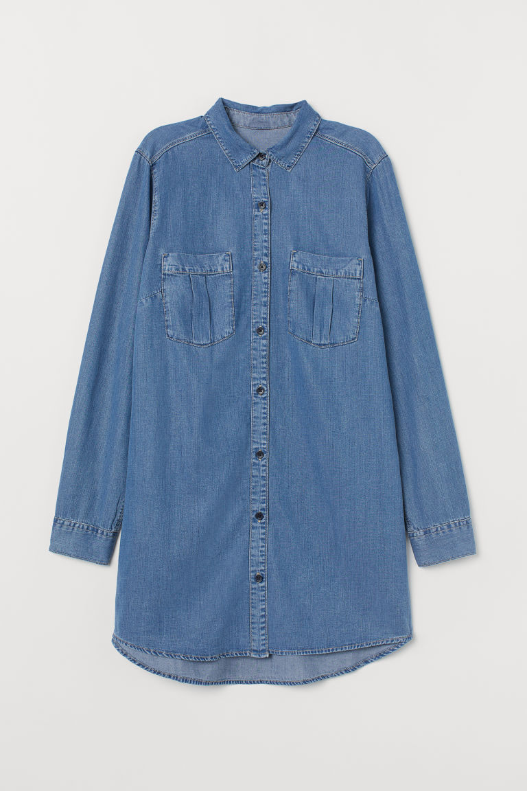 Long shirt - Denim blue -  | H&M IE