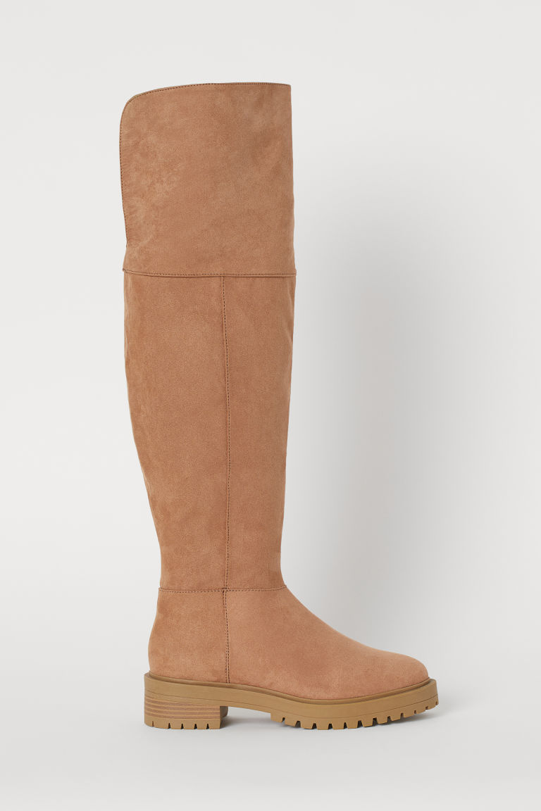 Knee-high Boots - Beige - Ladies | H&M CA