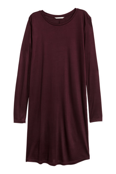 Jersey dress - Burgundy - Ladies | H&M