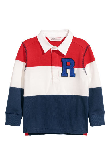 Rugby shirt - Red/Dark blue - Kids | H&M