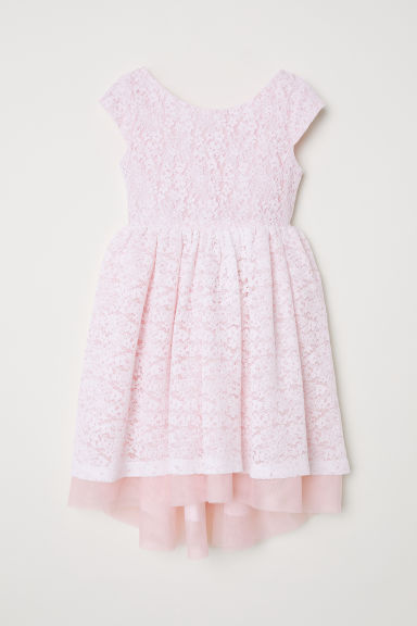 Lace dress - Light pink - Kids | H&M CN