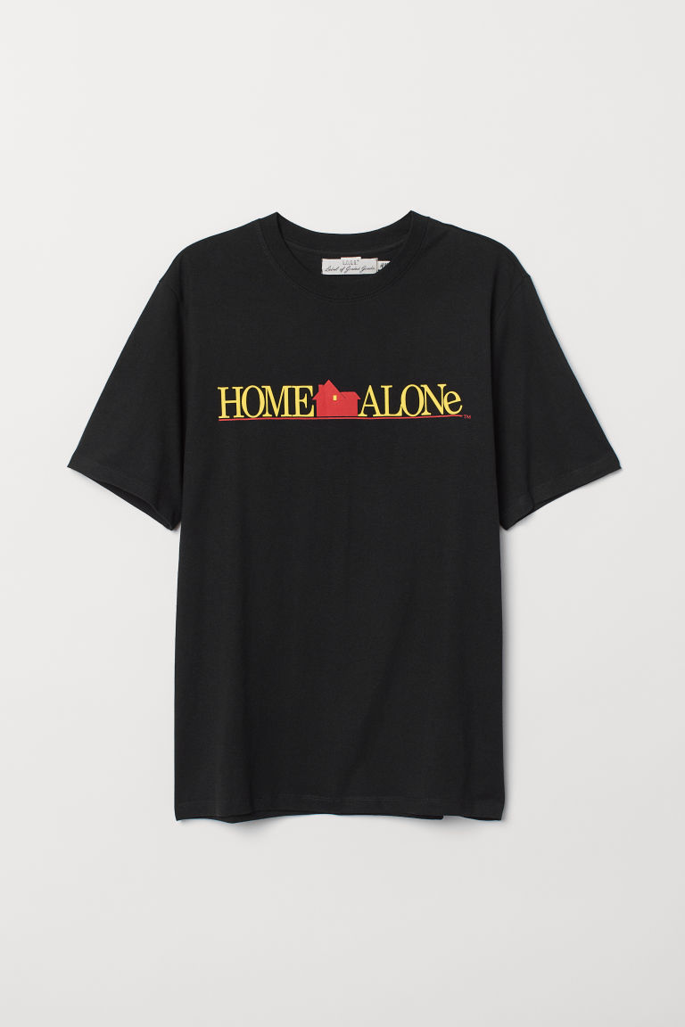 印花T恤 - 黑色/Home Alone - Men | H&M CN