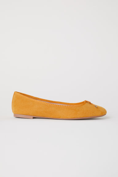 Ballet pumps - Mustard yellow - Ladies | H&M CN