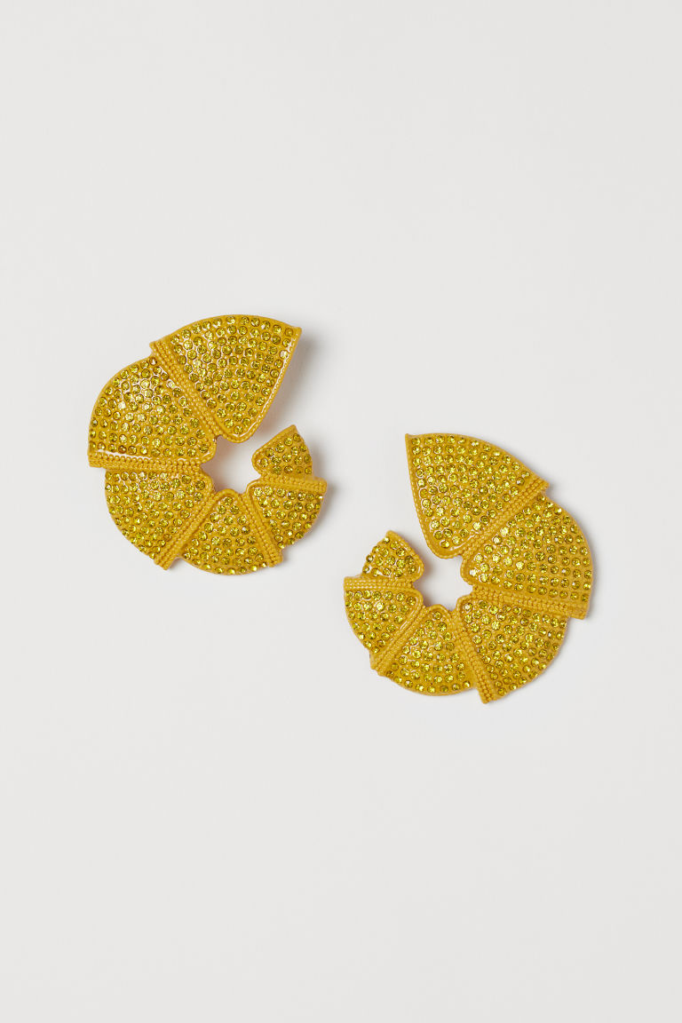 Shell-shaped Earrings - Yellow - Ladies | H&M CA