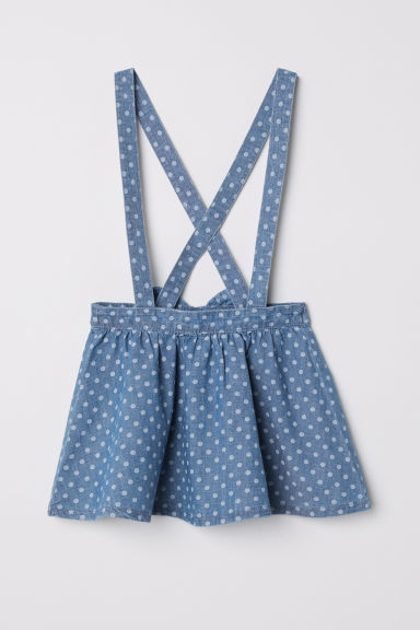 Dungaree dress - Blue/Spotted -  | H&M CN