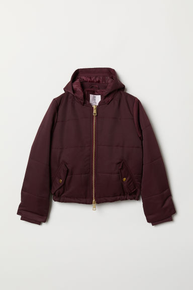 Padded jacket - Dark red - Kids | H&M