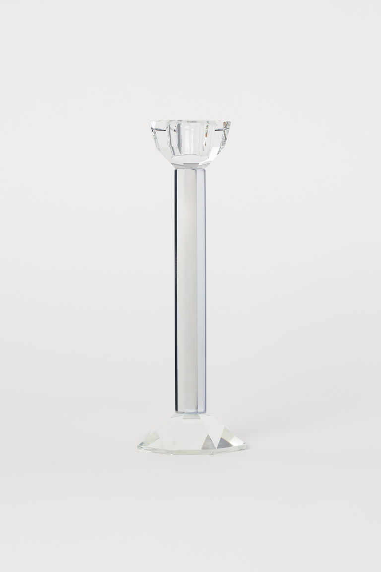 Ljusstake i glas - Transparent - Home All | H&M SE