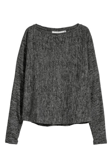 Fine-knit jumper - Dark grey marl -  | H&M CN