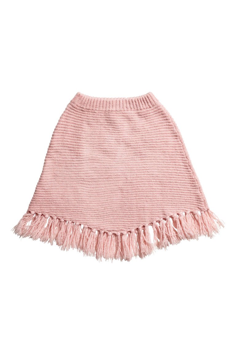 Knitted poncho - Light pink/Glittery - Kids | H&M