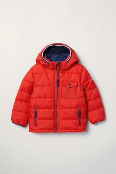 Padded hooded jacket - Red - Kids | H&M