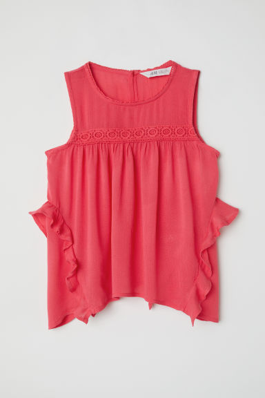 Crinkled blouse - Raspberry pink - Kids | H&M