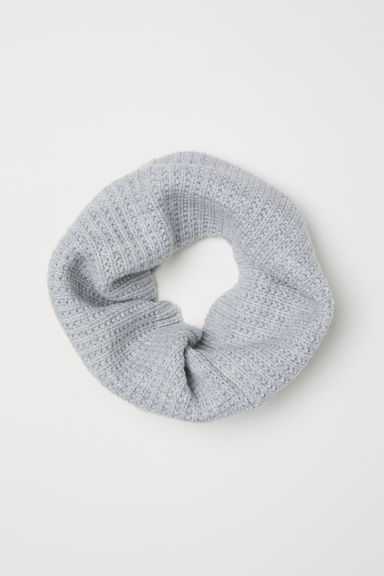Ribbed tube scarf - Light grey - Kids | H&M