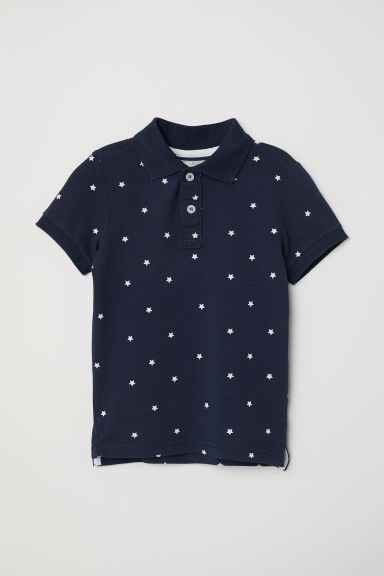 Polo shirt - Dark blue/Stars - Kids | H&M