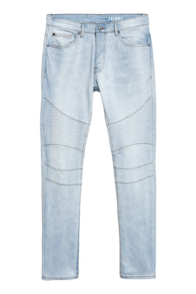Biker jeans - Light blue denim - Men | H&M CN