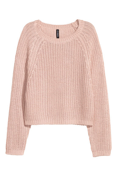 Rib-knit jumper - Old rose - Ladies | H&M CN
