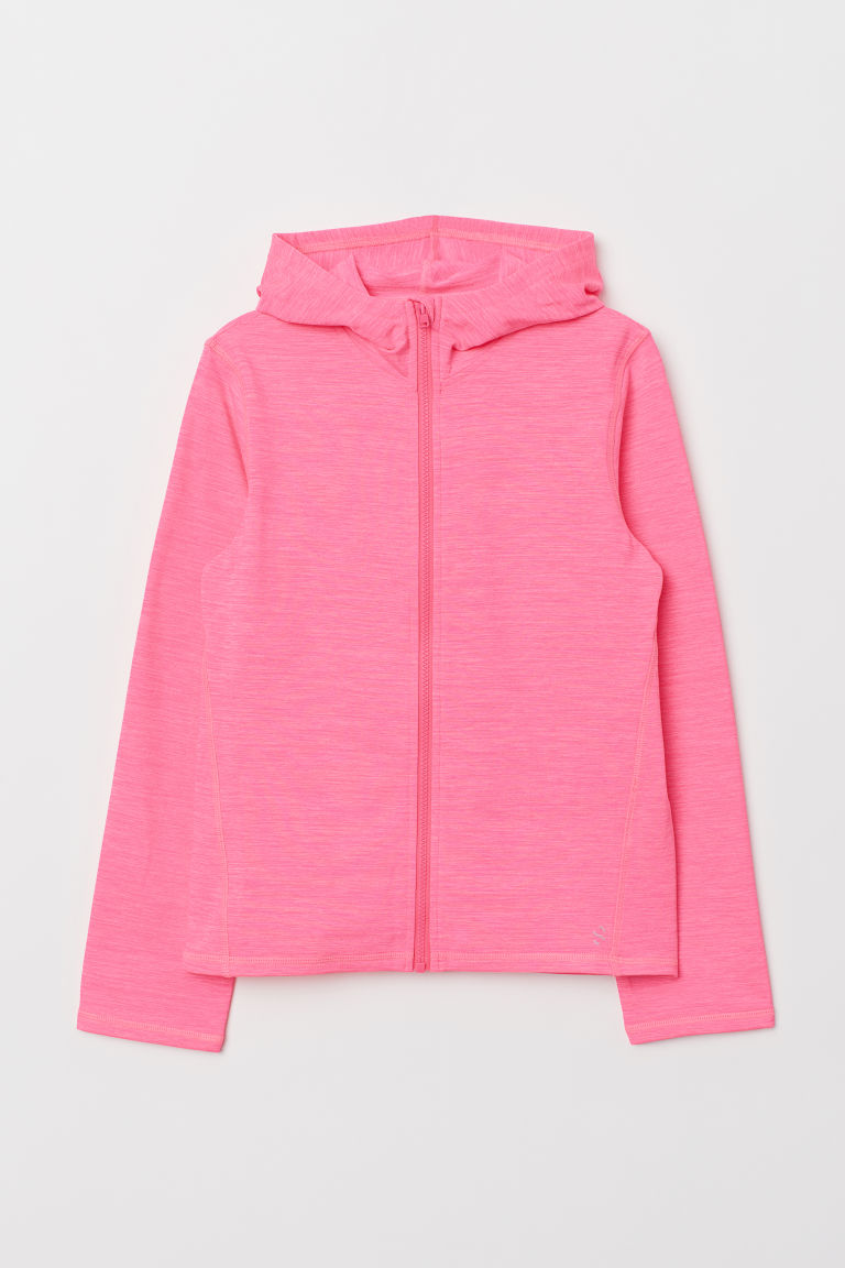 Hooded sports jacket - Neon pink -  | H&M CN
