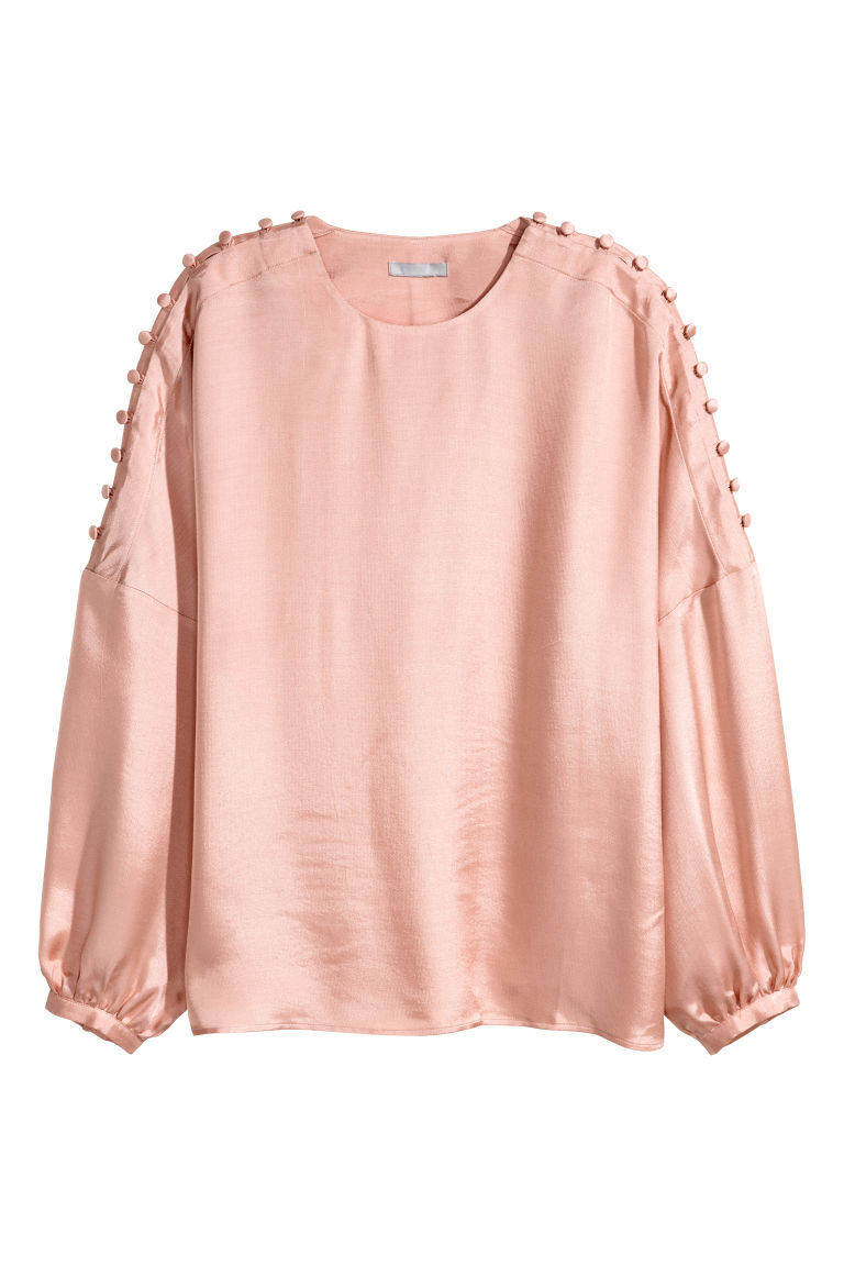 Modal-blend blouse - Powder pink - Ladies | H&M