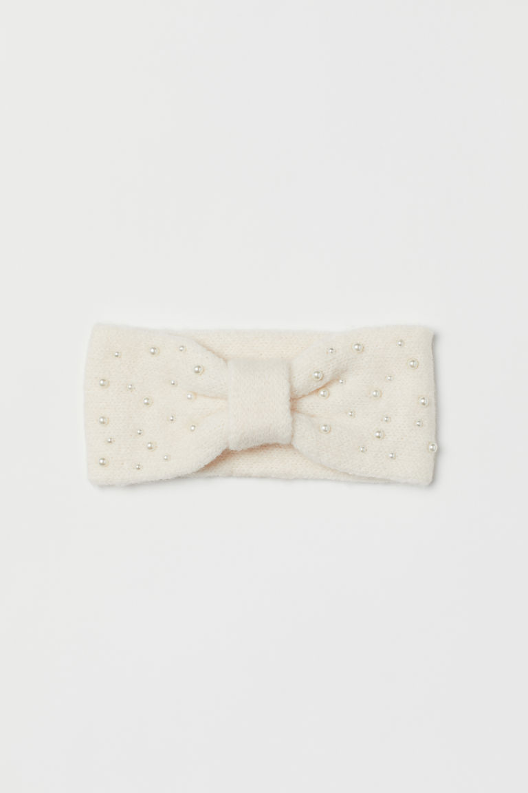 Knot-detail headband - Natural white -  | H&M