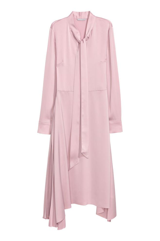 c43b75a05400 Saténové šaty - Pudrově růžová - ŽENY