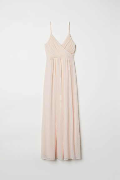 Long chiffon dress - Powder/Spotted - Ladies | H&M
