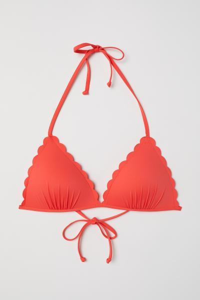 H&M - Wattiertes Triangel-Bikinitop - 1