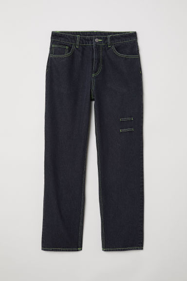 Straight Relaxed Jeans - Black washed out -  | H&M CN