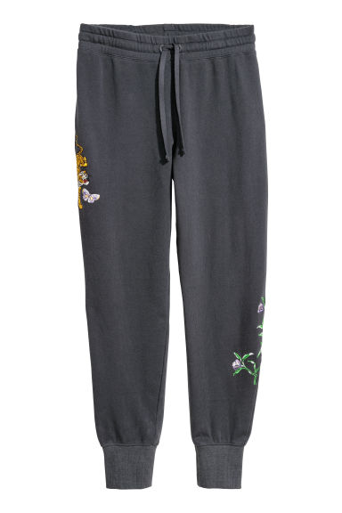 Joggers - Dark grey/Tiger - Ladies | H&M