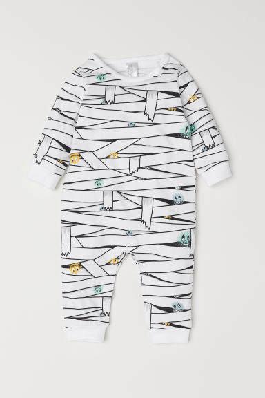 Printed all-in-one pyjamas - White/Mummy - Kids | H&M GB