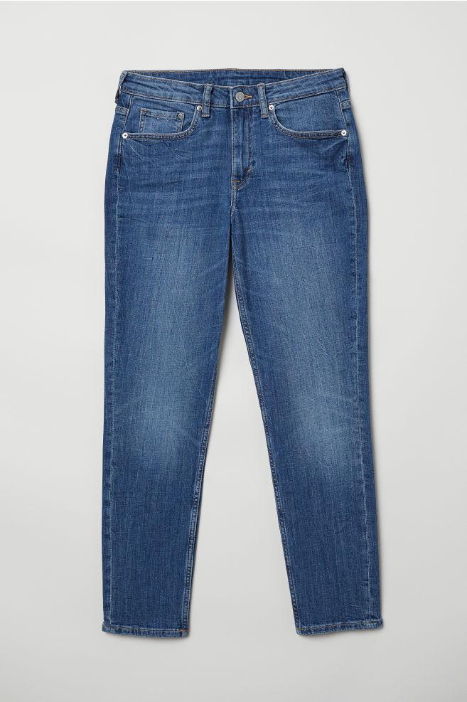 3446fe65 Girlfriend Regular Jeans - Denimblå -   H&M NO