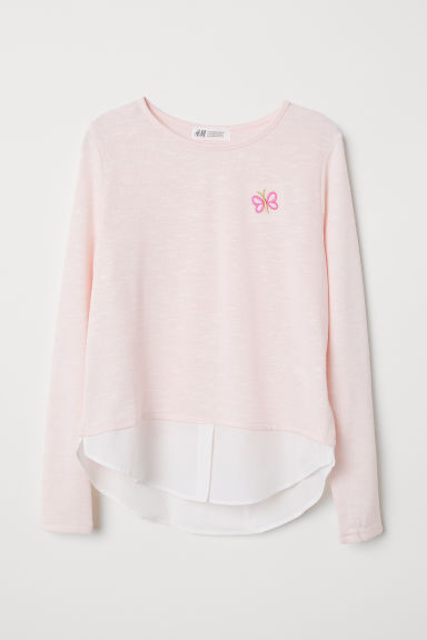 Fine-knit jumper - Light pink - Kids | H&M