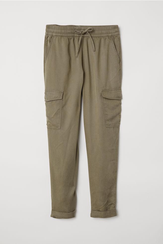 Pantalon jogger cargo - Vert kaki - FEMME  03029c3d9a9