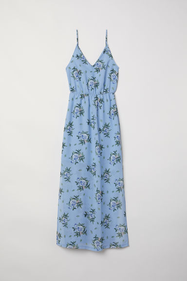 Maxi dress - Light blue/Floral - Ladies | H&M GB