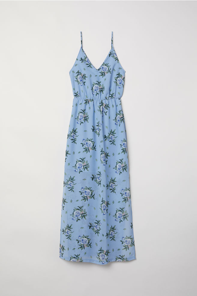 4eea7a52cf745b Favoriete Maxi-jurk - Lichtblauw bloemen - DAMES