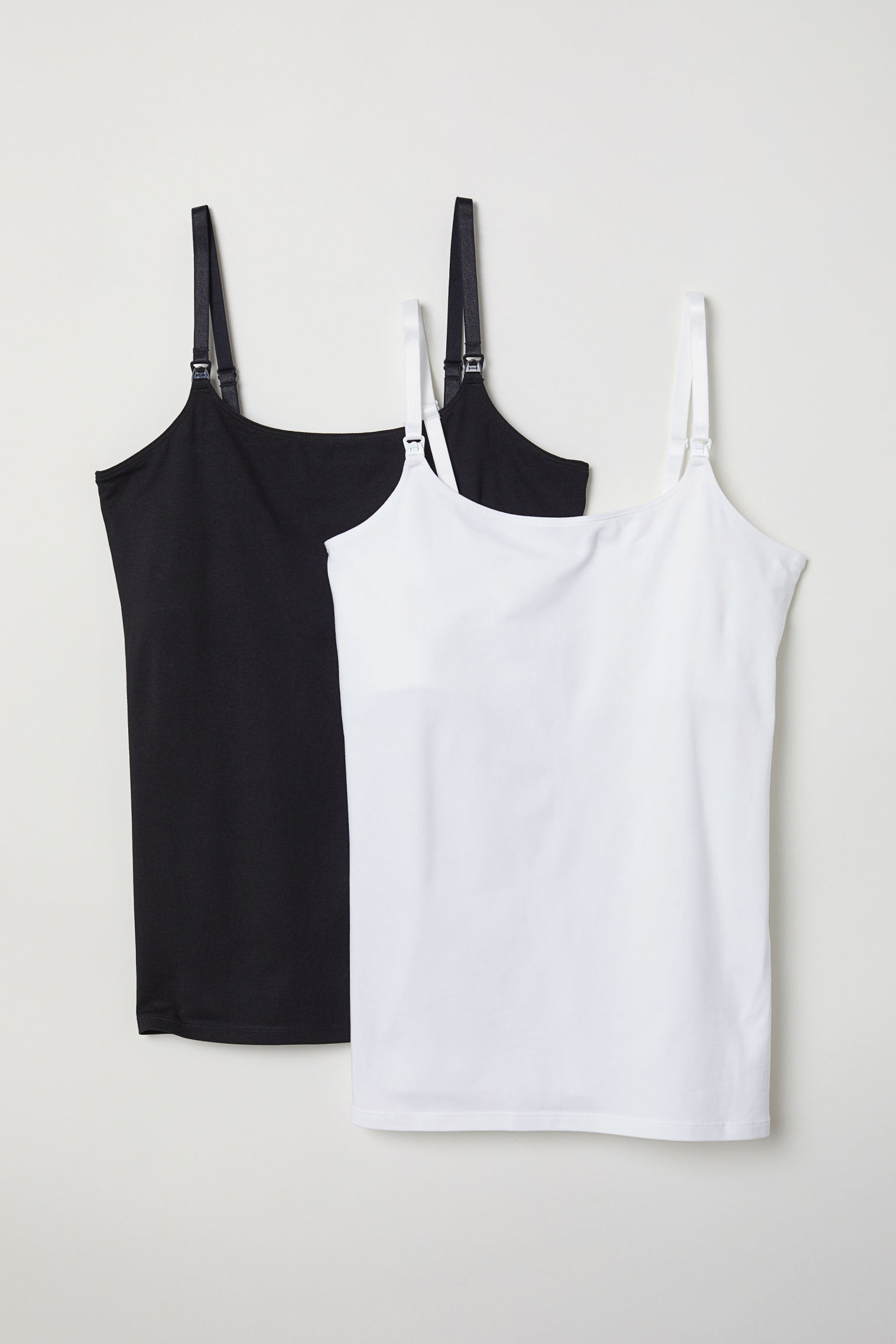 f953aa3cf96318 MAMA 2-pack Nursing Tank Tops - White black - Ladies