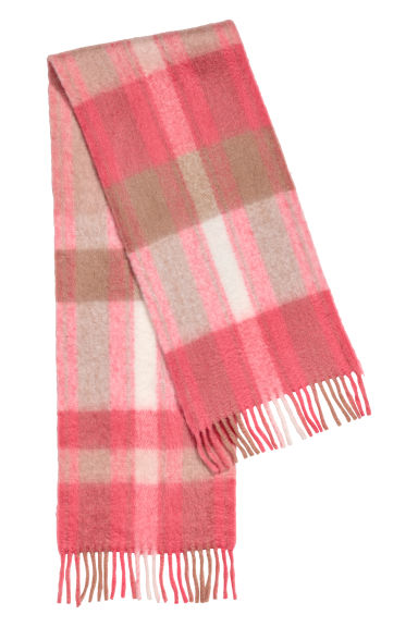 Scarf - Coral red/Beige - Ladies | H&M CN